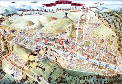 Sarajevo survival map